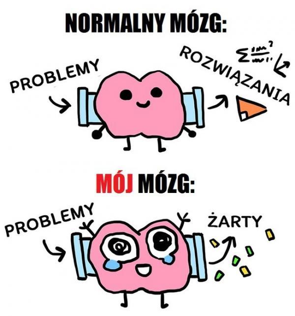 Normalny mózg vs. mój mózg