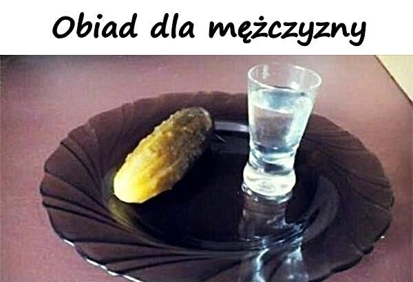 Obiad dla mężczyzny