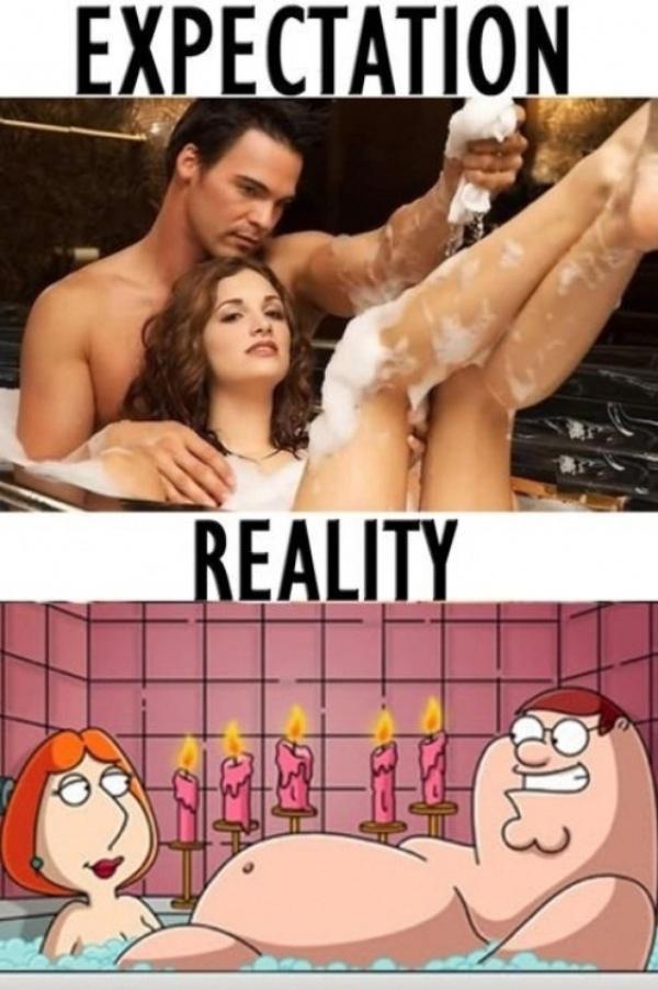 Oczekiwania podczas kąpieli w zderzeniu z rzeczywistością.
