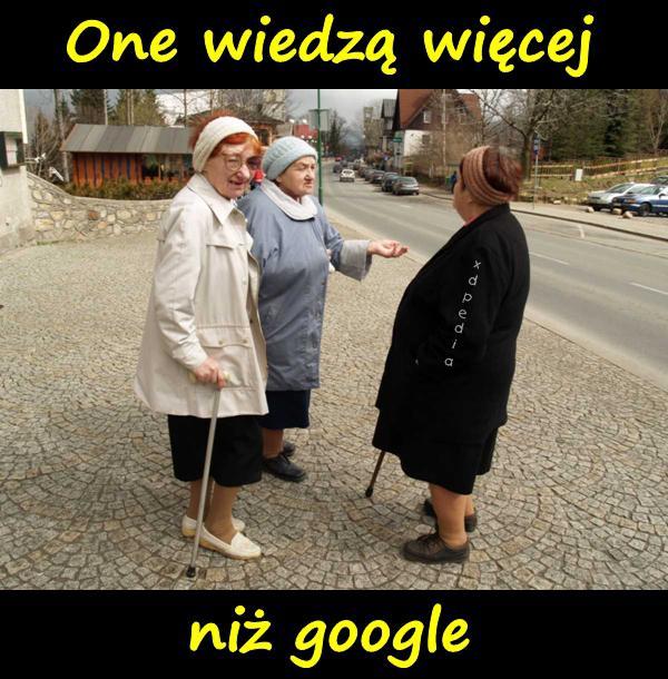 One wiedzą więcej niż google