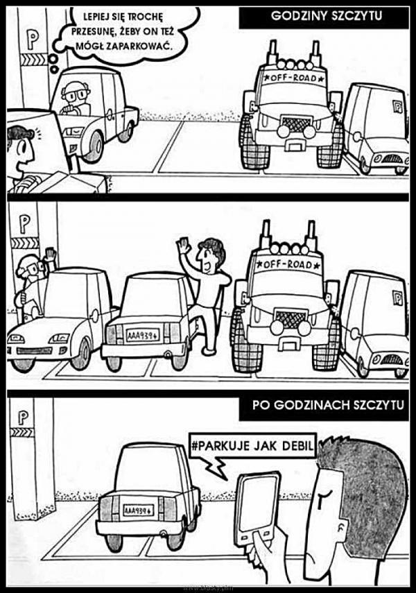 Parkuje jak debil