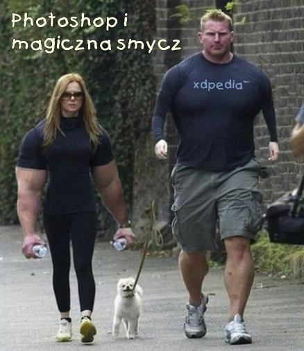 Photoshop Fajna zamiana, ale... ale kto trzyma magiczną smycz?