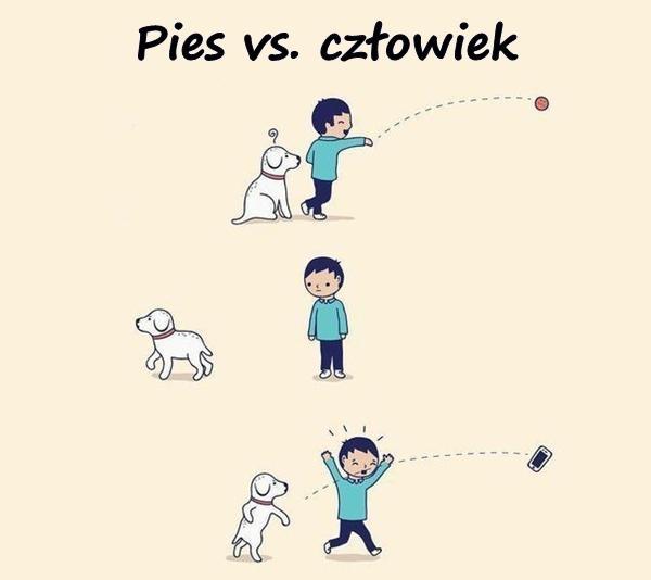 Pies vs. człowiek