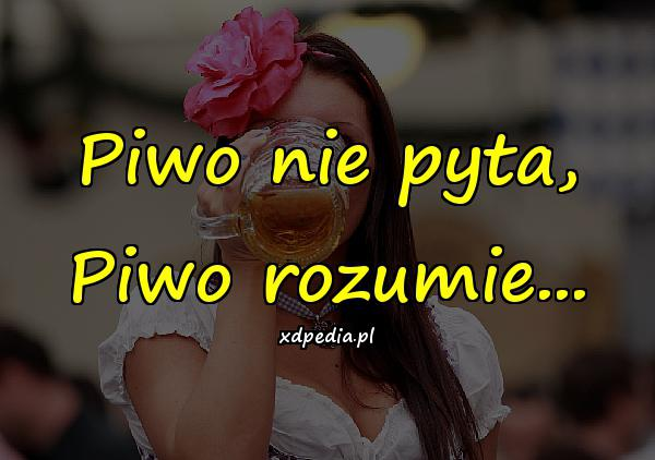 Piwo nie pyta, Piwo rozumie...