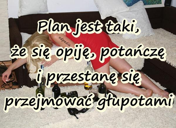 Plan jest taki, że się opiję, potańczę i przestanę się przejmować głupotami