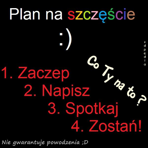 Plan na szczęście - Zaczep, Napisz, Spotkaj..
