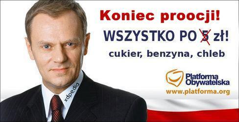 Platforma Obywatelska - koniec promocji!
