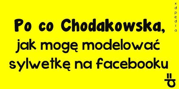 Po co Chodakowska, jak mogę modelować sylwetkę na facebooku =P