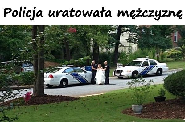 Policja uratowała mężczyznę