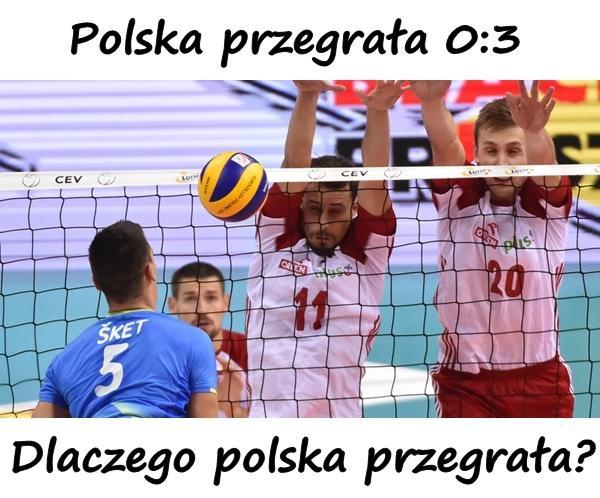 Polska - Słowenia. Mistrzostwa Europy. Ferdinando De Giorgi. Polska przegrała 0:3. Dlaczego polska przegrała?