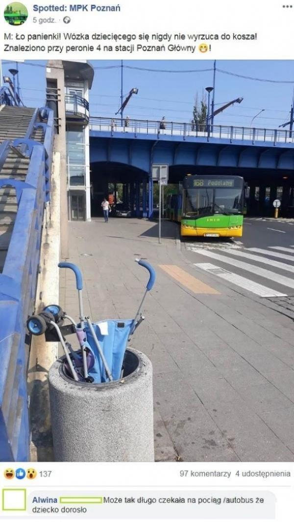 Ło panienki! Wózka dziecięcego się nigdy nie wyrzuca do kosza!