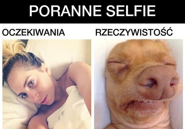Poranne selfie