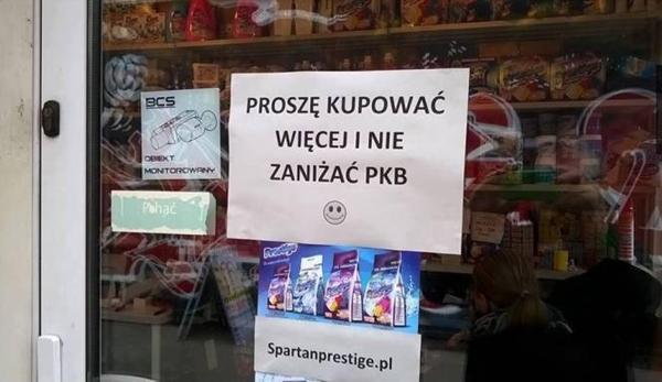 Proszę kupować więcej i nie zaniżać PKB