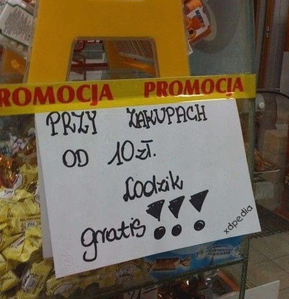 Przy zakupach od 10 zł lodzik gratis!