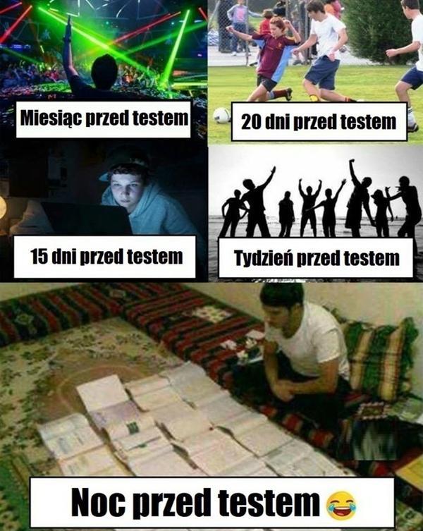 Przygotowanie do testu
