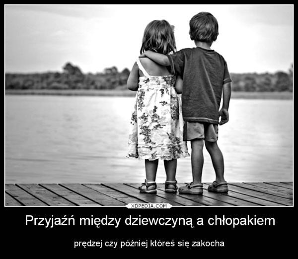 Przyjaźń między dziewczyną a chłopakiem