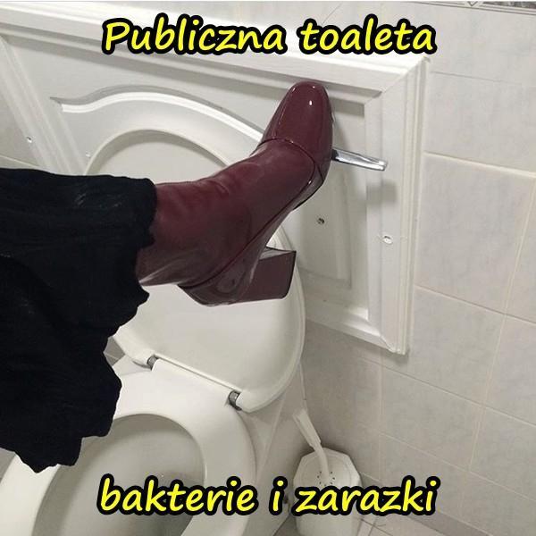 Publiczna toaleta - bakterie i zarazki