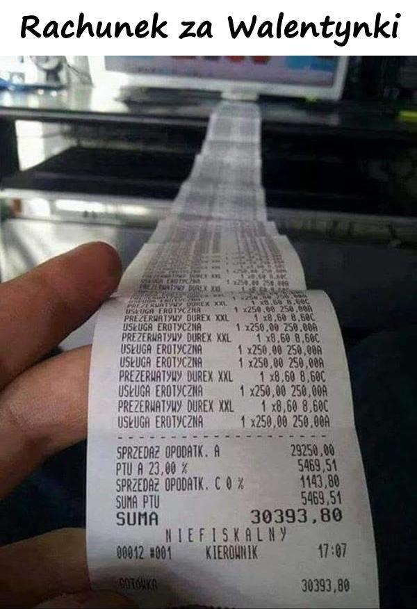 Rachunek za Walentynki