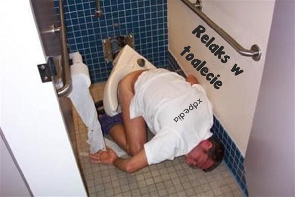 Relaks w toalecie...