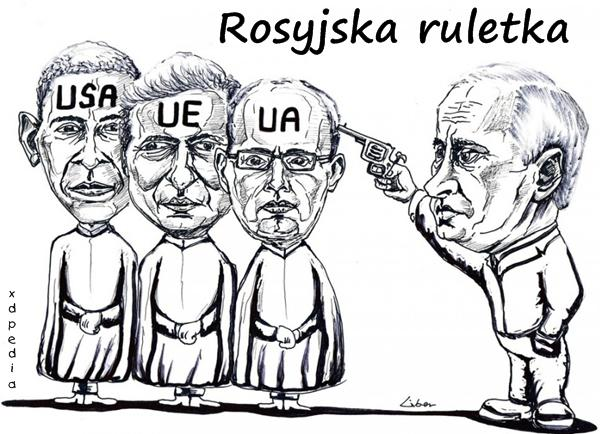 Rosyjska ruletka Putina Krym Ukraina UE USA