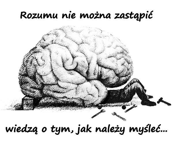 Rozumu nie można zastąpić wiedzą o tym, jak należy myśleć...