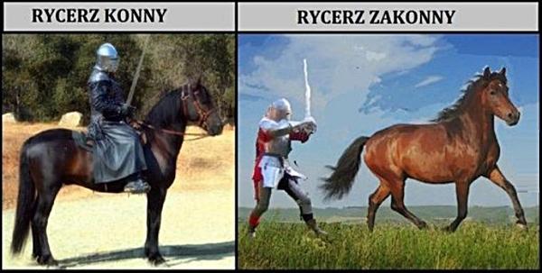 Rycerz konny a rycerz zakonny