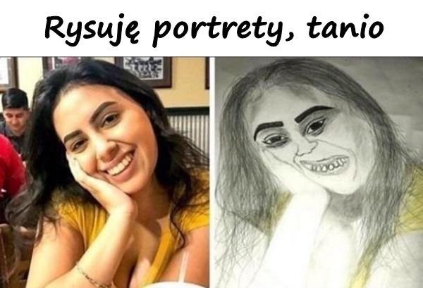 Rysuję portrety, tanio
