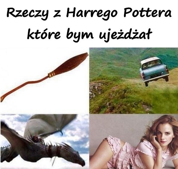 Rzeczy z Harrego Pottera które bym ujeżdżał