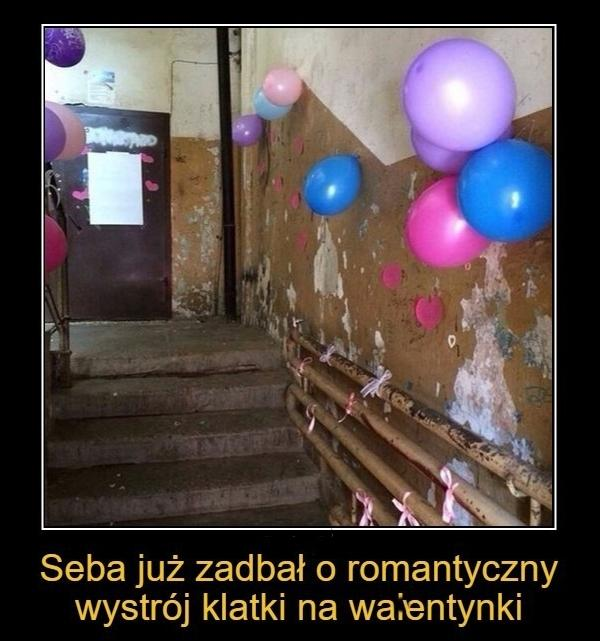 Seba już zadbał o romantyczny wygląd klatki na walentynki