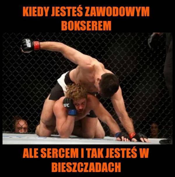 Kiedy jesteś zawodowym bokserem, ale sercem i taj jesteś w Bieszczadach