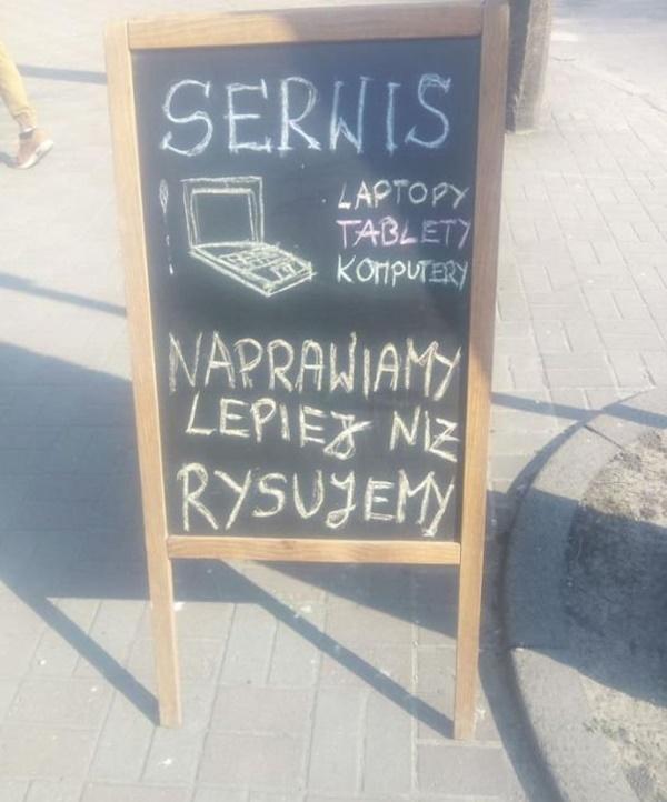 Serwis: laptopy, tablety, komputery. Naprawiamy lepiej niż rysujemy.