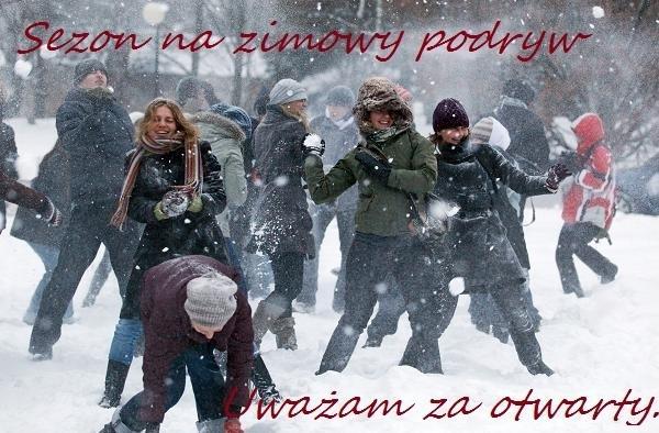 Sezon na zimowy podryw uważam za otwarty.