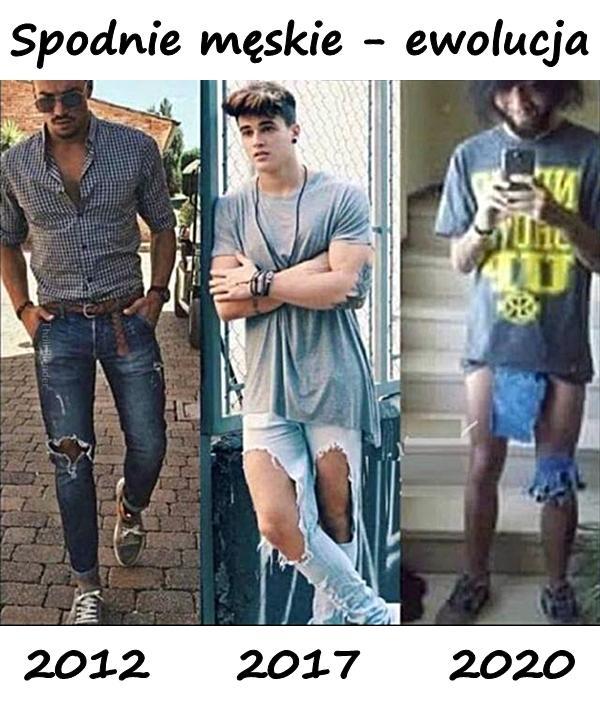 Spodnie męskie - ewolucja