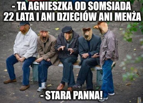 - Ta Agnieszka od somsiada, 22 lata i ani dzieciów ani menża - Stara panna!