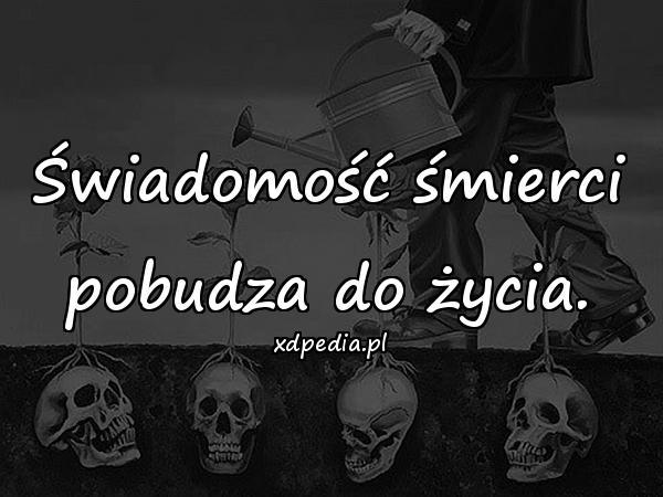 Świadomość śmierci pobudza do życia.