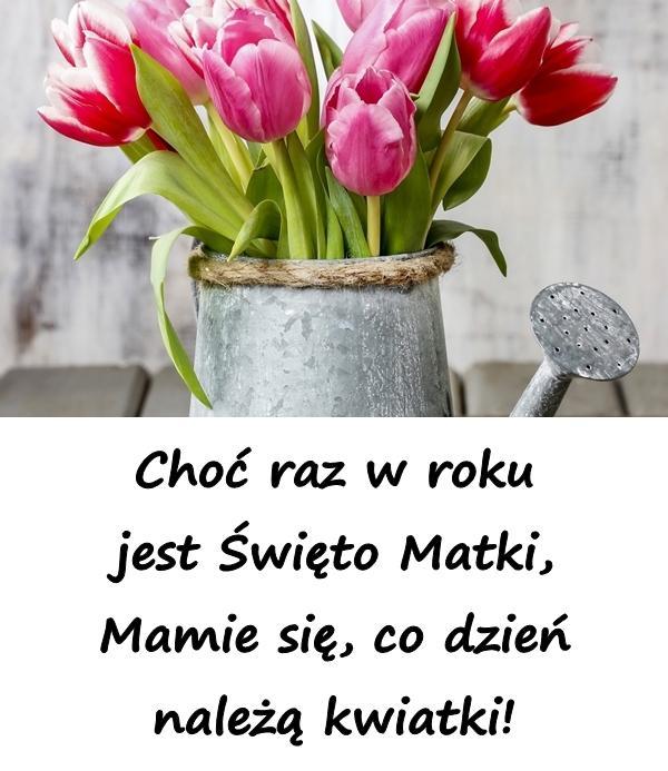 Choć raz w roku jest Święto Matki, Mamie się, co dzień należą kwiatki!