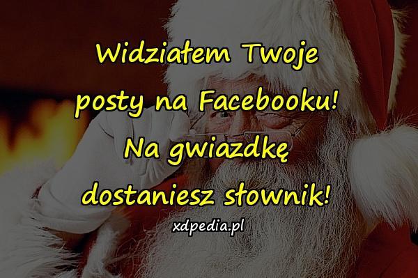 Widziałem Twoje posty na Facebooku! Na gwiazdkę dostaniesz słownik!