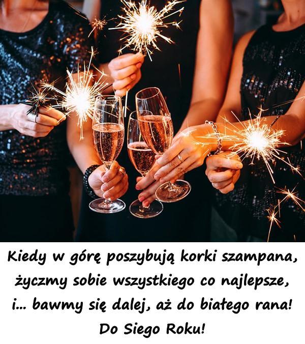 Kiedy w górę poszybują korki szampana, życzmy sobie wszystkiego co najlepsze, i... bawmy się dalej, aż do białego rana! Do Siego Roku!