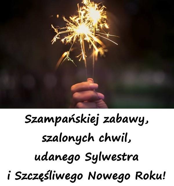 Szampańskiej zabawy, szalonych chwil, udanego Sylwestra i Szczęśliwego Nowego Roku!