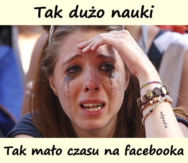 Tak dużo nauki, tak mało czasu na facebooka