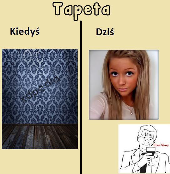Tapeta - ściana vs. kobieta