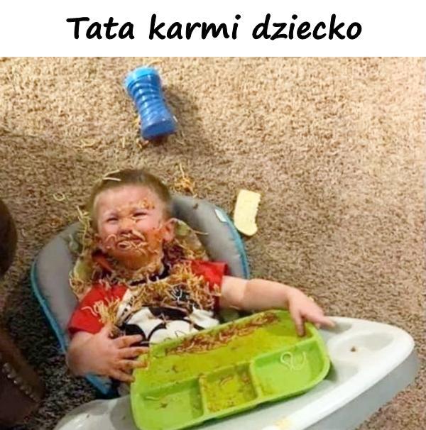 Tata karmi dziecko