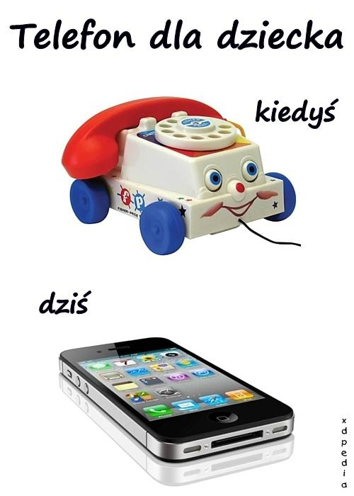 Telefon dla dziecka - kiedyś vs. dziś