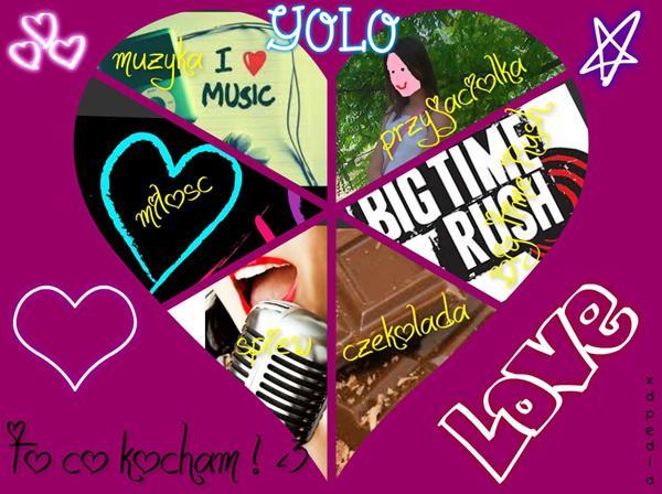 To co kocham!  Tagi: miłość, memy, muzyka, przyjaciółka, czekolada, śpiew, besty, merm.