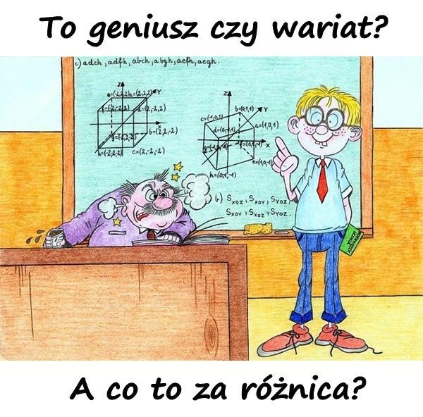 - To geniusz czy wariat? - A co to za różnica?