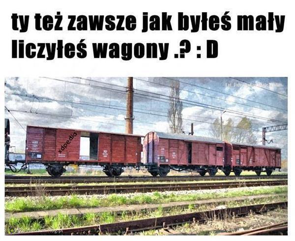 Ty też zawsze jak byłeś mały liczyłeś wagony? :D