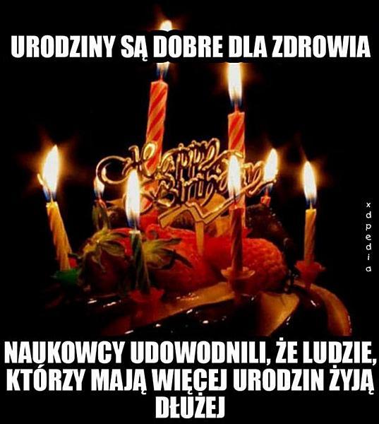 Urodziny są dobre dla zdrowia...