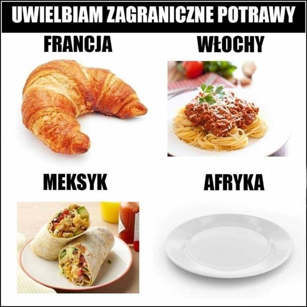 Uwielbiam zagraniczne potrawy