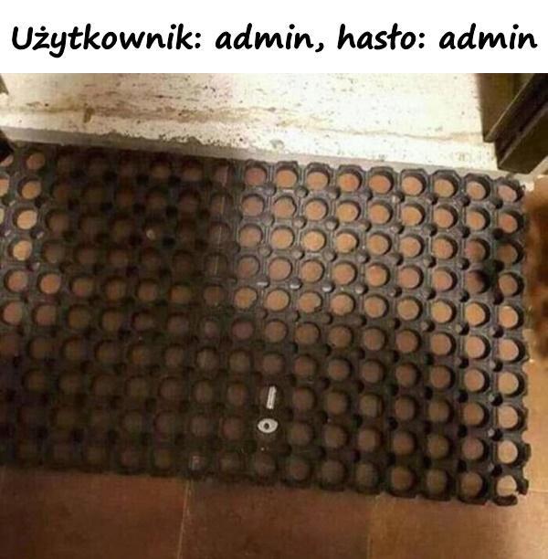 Użytkownik: admin, hasło: admin