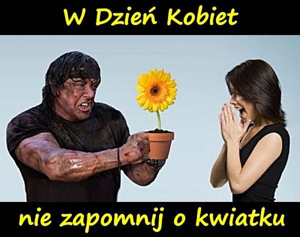W Dzień Kobiet nie zapomnij o kwiatku